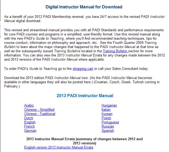 Padi guide to teaching pdf download