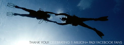 PADI Facebook 1 million