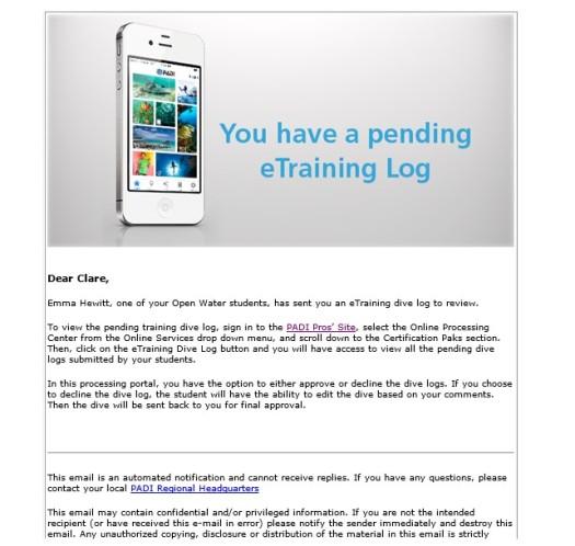 etraining log