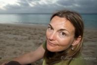 Anna at the beach