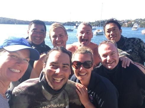 PADI Freediving Students
