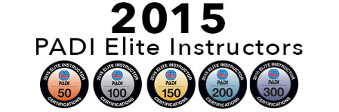PADI Elite Instrcutors 2015