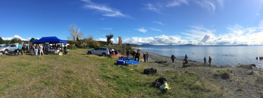 The Beach set-up & dive site
