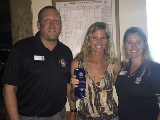 Dive Operator Julie Kelly was recently recognized by PADI for her Outstanding Contribution to the Local Community