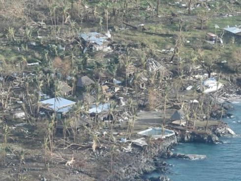 After the Cyclone this is what was left of the Resort